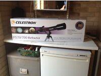 TELESCOPE: Celestron PS 70/700 Refractor Telescope - Still boxed