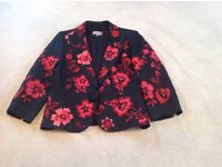 M&S red and black linen jacket