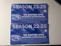 2x Badminton finals tickets
