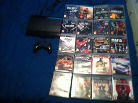 ps3 with controllers and hdmi cable and 20 games bundle £70 ono