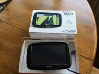 TomTom Start 50. Lifetime maps UK and ROI 5 inch screen. Easy port mount. Car charger and USB cable