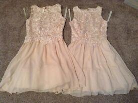 Two Beautifull peach bridesmade dresses