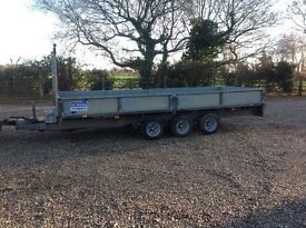 Ifor Williams 16ft tri axle trailer lm66G