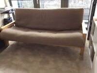 Free to collect. Futon Company double bifold sofa/bed with cover