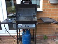 Gas BBQ with gas bottle