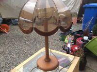 Old fashioned beautiful lamp.