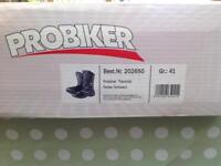 Ladies Leather Motorcycle Boots, Size 41. English 6/7