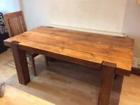 Solid English Oak Dining Table