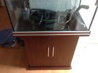 200L Aqua One Fish Tank with Cabinet