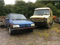 DAF van & Peugeot 205 clearence