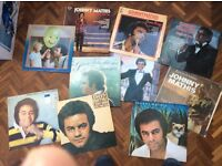 Johnny Mathis vinyl record collection