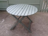 John Lewis patio/bistro green painted table