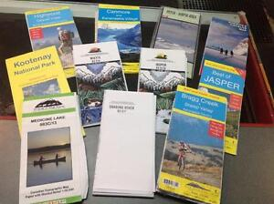 Used Trail Maps / Topographical Maps Banff / Canmore Alberta Preview