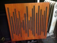 VIACOUSTIC WOOD SOUND PANELS USED IN SMOKE FREE STUDIO ONLY 1 YEARS OLD