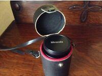 A camera converter - doubler/x2 teleconvertor/x2 extender Doi make. Pentax K fitting, manual.