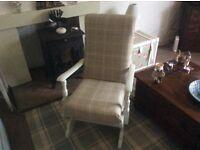 Beautiful refurbished glider rocking chair upholstered in Laura Ashley Keynes