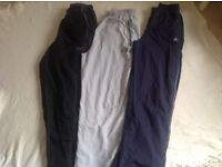 3 x boys tracksuit bottoms size age 12