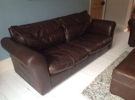 Leather sofa suite - £200 ono Newbury