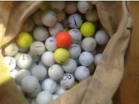 100 assorted used golf balls. All makes. Need a home!
