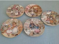 Set of Christmas plates (5)