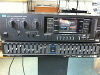 Sansui amp tuner and graphic equaliser