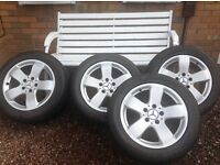 Set of 4 genuine Mercedes alloys and tyres