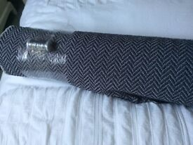 New Upholstery Fabric 7 metres Grey/Purple mix