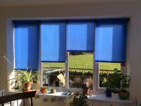 Roller blinds - colour blue