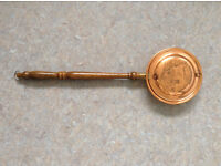 VINTAGE ORNAMENTAL COPPER/ BRASS YORKSHIRE WARMING PAN