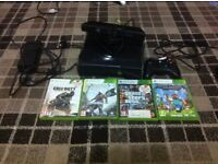 Xbox 360 250gb, 4 physical game disk with Kinect and 18 full digital game, bundle