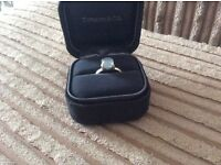 genuine Tiffany sterling silver ring with stone. Box included