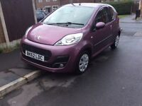 PEUGEOT 1.0 ACTIVE 107 3DR hatchback Patrol Manual 2012 Full hISTROY 3 Mouth mot miles 48000