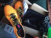 adidas X 15+ Primeknit SG Football Boots Solar, Gold/Shock Pink/Core Black uk9.5