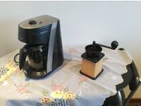Coffee maker and coffee grinder
