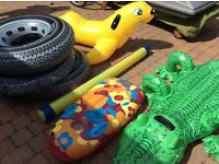 Selection of inflatable water toys