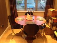 Dwell Brown wood dining table and chairs (could sell separately)