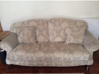 Shabby chic sofas, 2 seater and 3 seater, In fair condition