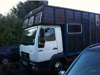 7.5 ton TRUCK MAN 8.153 HORSE BOX SPARES OR REPAIR EASY FIX DERIVABLE FLATBED RECOVERY MOTOR HOME