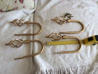 4 gold metal curtain tie backs view listing as very cheap no offer sorry