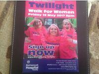 Twilight Walk For Women. Bournemouth hospital Charity.
