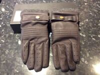Ralph Lauren Polo Soft Brown Leather Glove * NEW in box * Mens* One size.