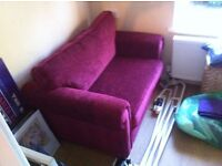 Sofa bed and footstool with storage - £350 or best offer