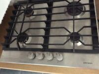 John Lewis stainless steel gas hob .Hardley used v.g.c .only two years old nice solid pan supports.