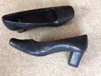 Clarke's Black Court Shoes.