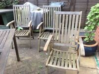 Garden chairs - Reclining chairs wooden
