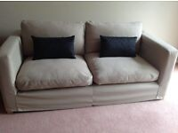 Taupe 2-3 seater sofa for sale