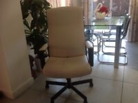 IKEA cream leather look office chair