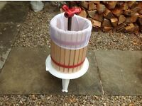 Apple, cider, fruit press with bag, 18 litres, new