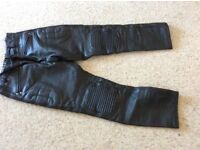 Ladies leather motorbike trousers