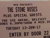 2x Stone Roses Tickets - SSE Arena, Belfast - 13/06/17 - £140 - FANTASTIC SEATS!